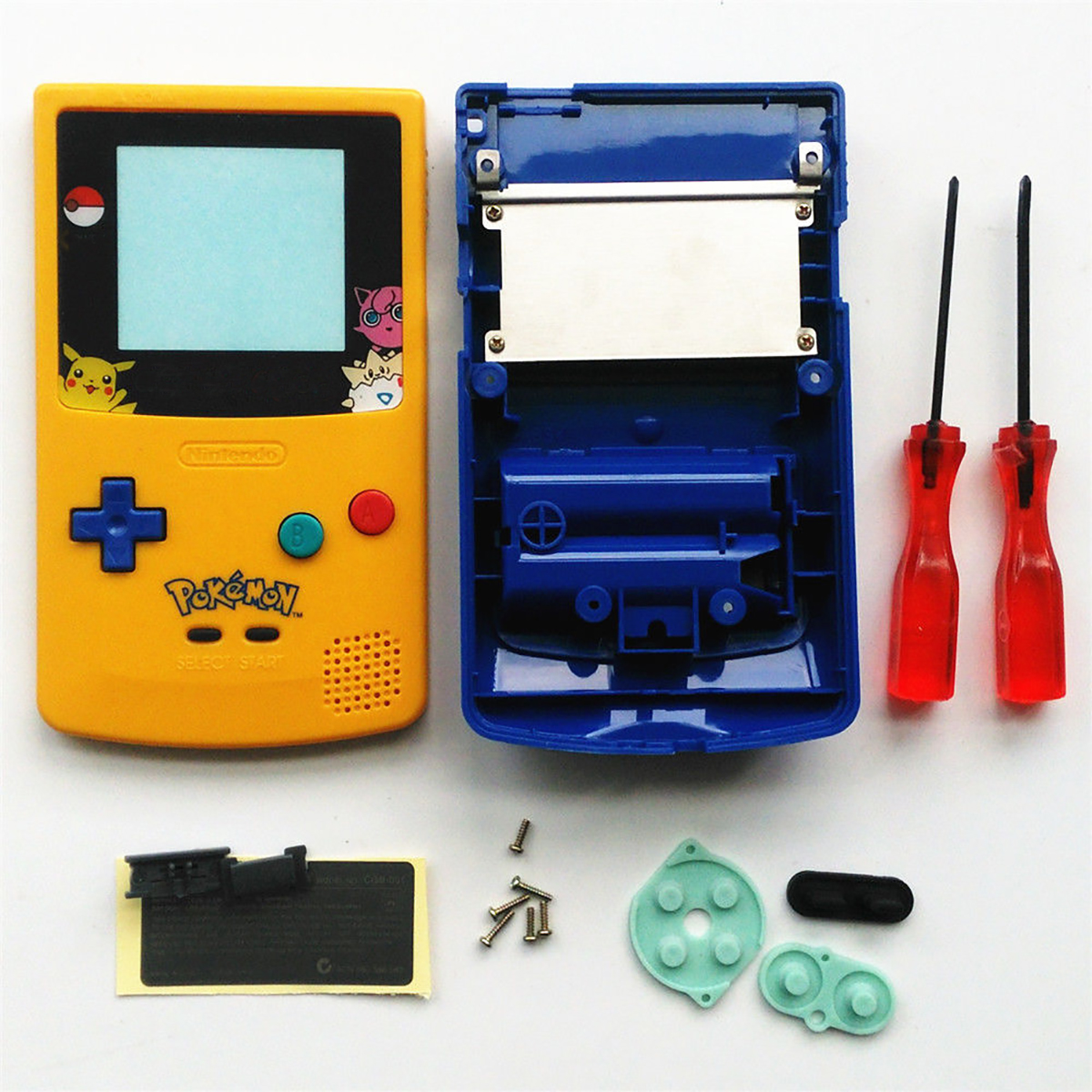 New Full Housing Shell Cover Repair Part Housing Shell Pack for Nintendo Game boy Color GBC 2 pieces brand new oem speakers for nintendo gameboy color gbc game boy advance gbc gba speaker page 5
