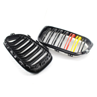 1 pairs Good quality Gloss Black For BMW 1 Series F20 F21 LCI Front Grill M135i