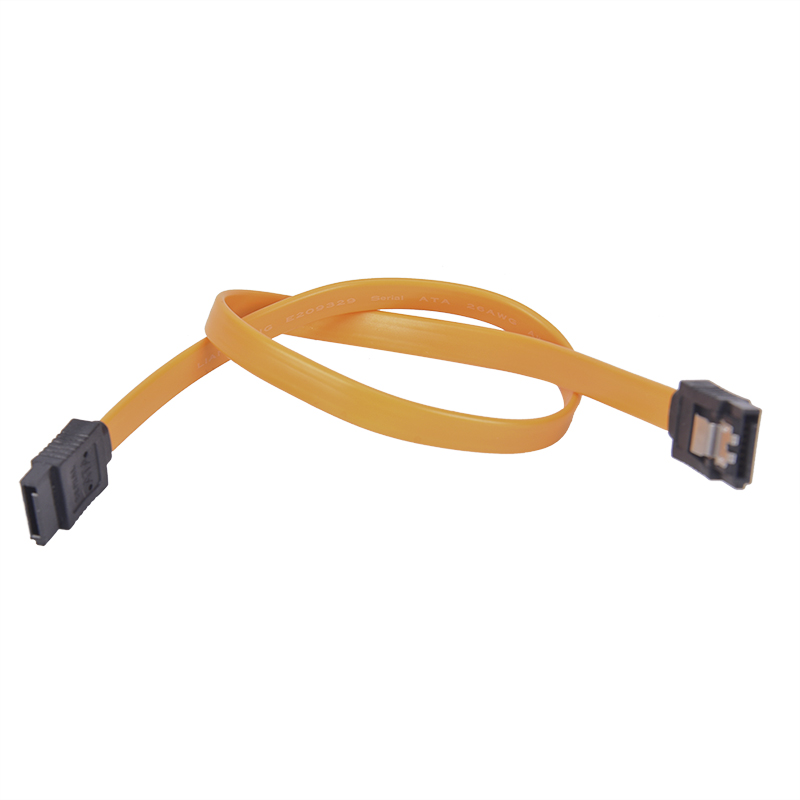 Yellow 40cm Straight High Speed SATA Data Cable  Serial ATA SATA 3 RAID Data HDD Hard Drive Disk Signal Cables