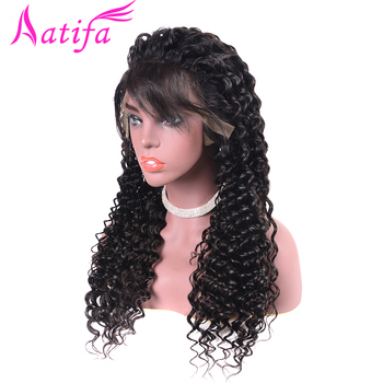 Malaysian Lace Front Human Hair Wigs With Baby Hair Glueless Deep Wave Lace Front Wig 13x4 Pre Plucked 180% Density For Women