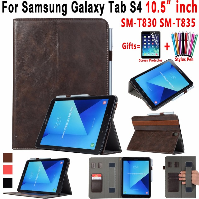 the latest a53ab 1e273 Premium Leather Handheld Pencil Holder Case for Samsung Galaxy Tab S4 10.5  inch T830 T835 SM T830 Smart Awake Sleep Cover Funda-in Tablets & e-Books  ...
