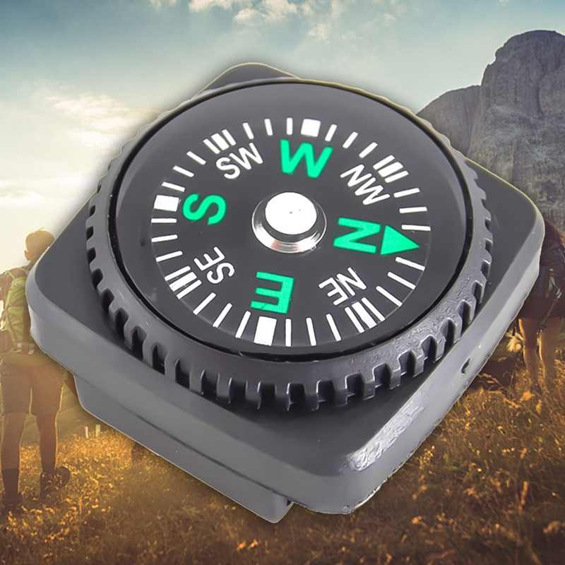 2019 防水コンパスとホルスター時計バンド Paracord ブレスレットナビゲーション黒キャンプハイキング緊急サバイバルアクセス