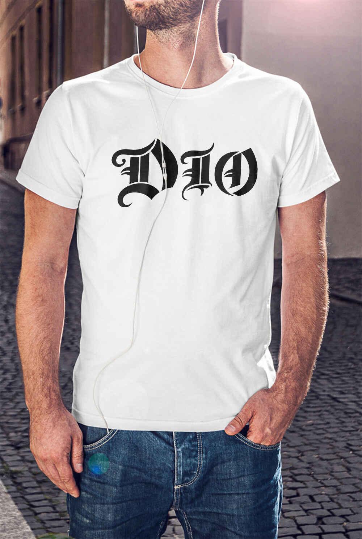 Ronnie James Dio Mannen T-shirt Black Sabbath Tee Regenboog Shirt Elf Heaven & Hell Mannen Vrouwen Unisex Fashion t-shirt Gratis verzending