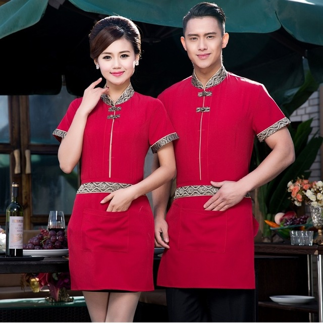 d7d71557a4e Tops+apron Chinese Restaurant Chef Uniform Women National Work Clothers  Hotel Catering Uniforms Kitchen Work Wear Sets 89