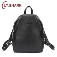 LY.SHARK New Mini Women Backpack Genuine Leather Backpack Small Women Shoulder Bag Anti Theft Back Pack For Girls Backbag