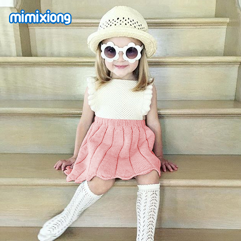 Child Women Costume 2018 Summer season Elegant Toddler Princess Vestidos Free Knit Sleeveless Toddler Social gathering Marriage ceremony Sundress New child Costume