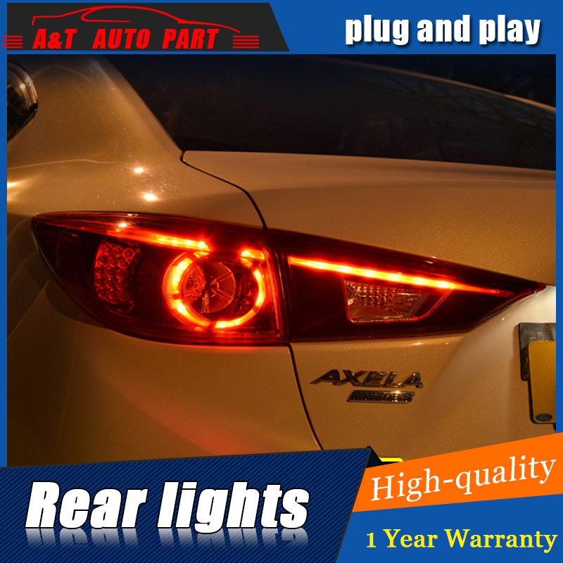 Car Styling LED Tail Lamp for Mazda 3 AXELA Tail Lights 2014-2017 for Mazda 3 Rear Light DRL+Turn Signal+Brake+Reverse LED light for vw volkswagen polo mk5 6r hatchback 2010 2015 car rear lights covers led drl turn signals brake reverse tail decoration