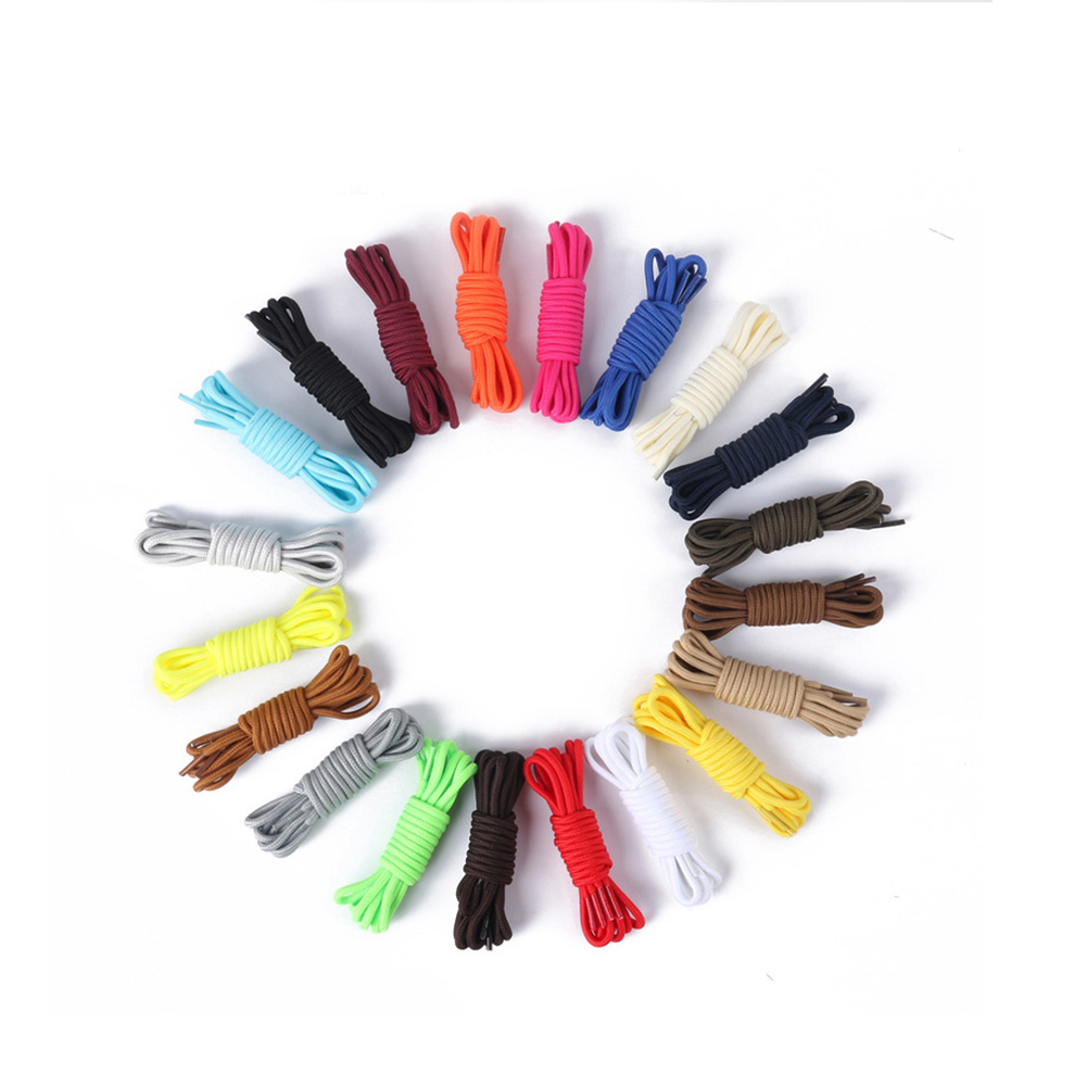 1Pair Classic Casual Multi-Color Round Twisted Long Shoelace For Sneakers Unisex Durable Sports Boots Shoe Laces String 70-150cm