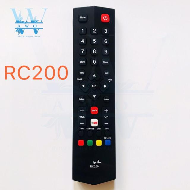 Nouveau 1 pièces RC200 télécommande universelle remplacement pour TCL Smart TV LCD LED sans fil contrôleur à distance de haute qualité