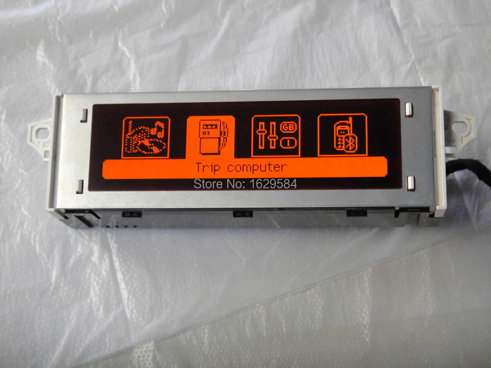 12 Pin Red Screen Support USB Bluetooth Display Monitor Black Shell For Peugeot 307 407 408 Citroen C4 C5 Accessory