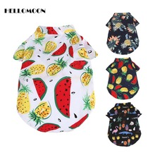 HELLOMOON French Bulldog Clothes Dog Summer For Dogs Schnauzer Buffalo Fighting Watermelon Hawaii