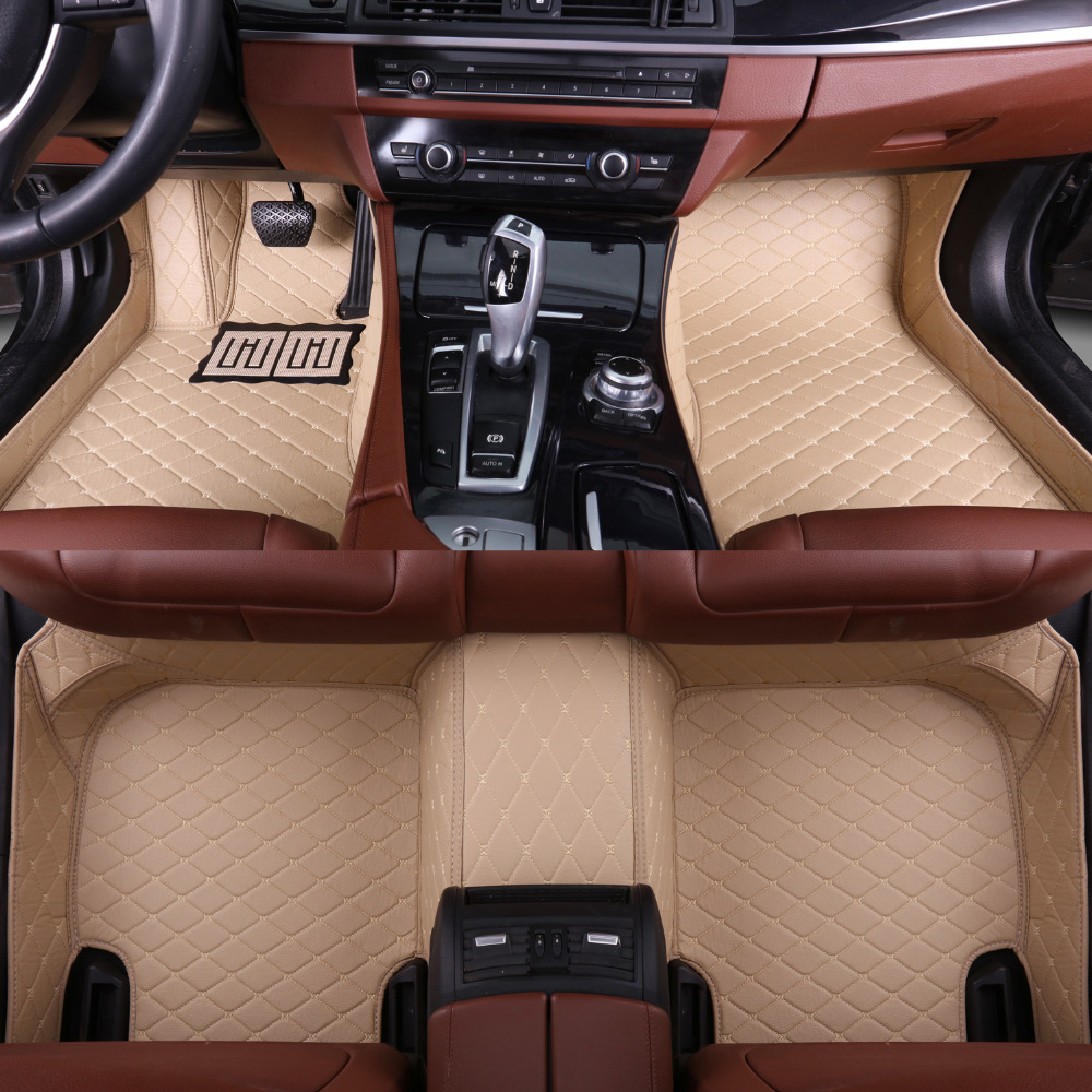 Car floor mats for <font><b>Audi</b></font> <font><b>A5</b></font> <font><b>sportback</b></font> S5 5D heavy duty all weather car-styling leather carpet floor liners(2007-now) image
