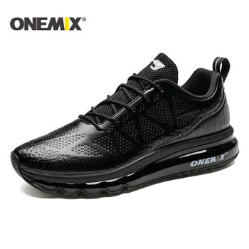 ONEMIX New Road Running Shoes For Men Leather Air Cushion Sneakers Men Outdoor Walking Shoes Tennis Shoes women Size 35-47