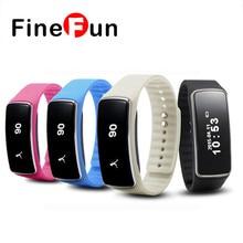 Finefun смарт-браслет V5S Bluetooth фитнес-браслет с oled Дисплей шагомер калорий вызова напоминание анти-потерянный
