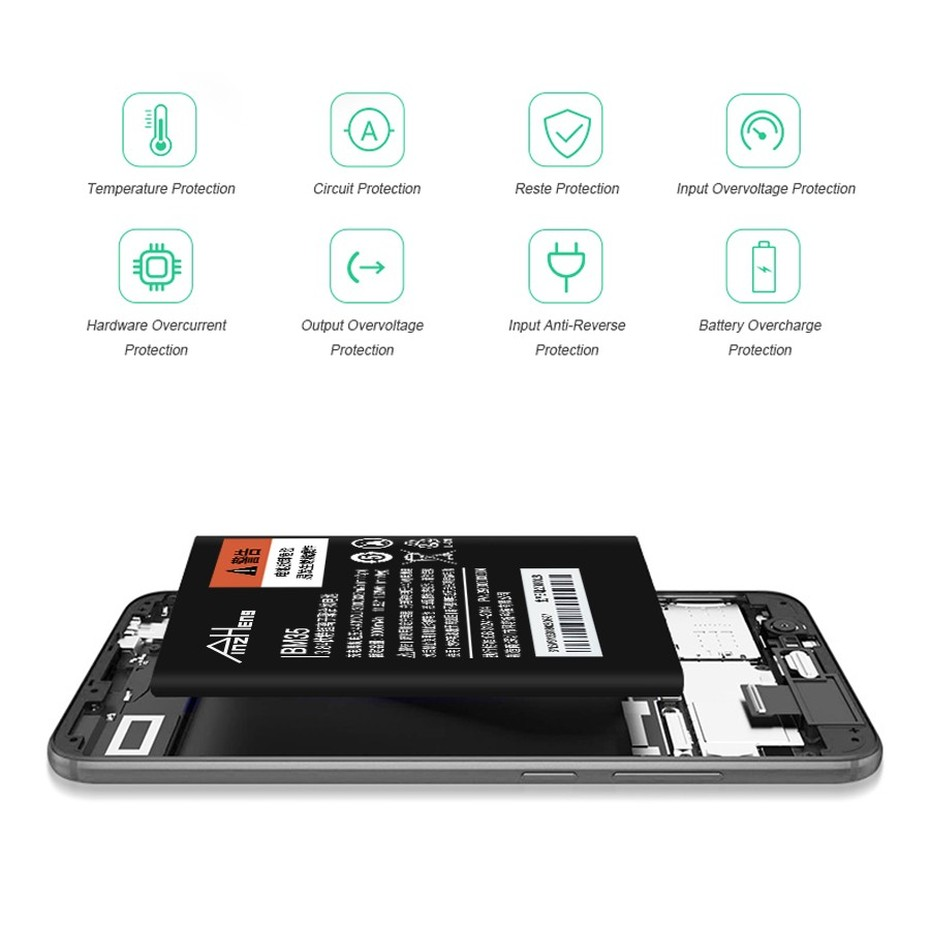 PINZHENG BM35 Battery For Xiaomi Mi4c Replacement Mobile Phone Battery MI 4C BM35 4C High Capacity Batteries With Free Tools  (3)