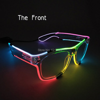 Brand Design Fashionable Voice Control Dream Color Neon Strip Led Wedding Glasses Holiday Lighting EL Wire