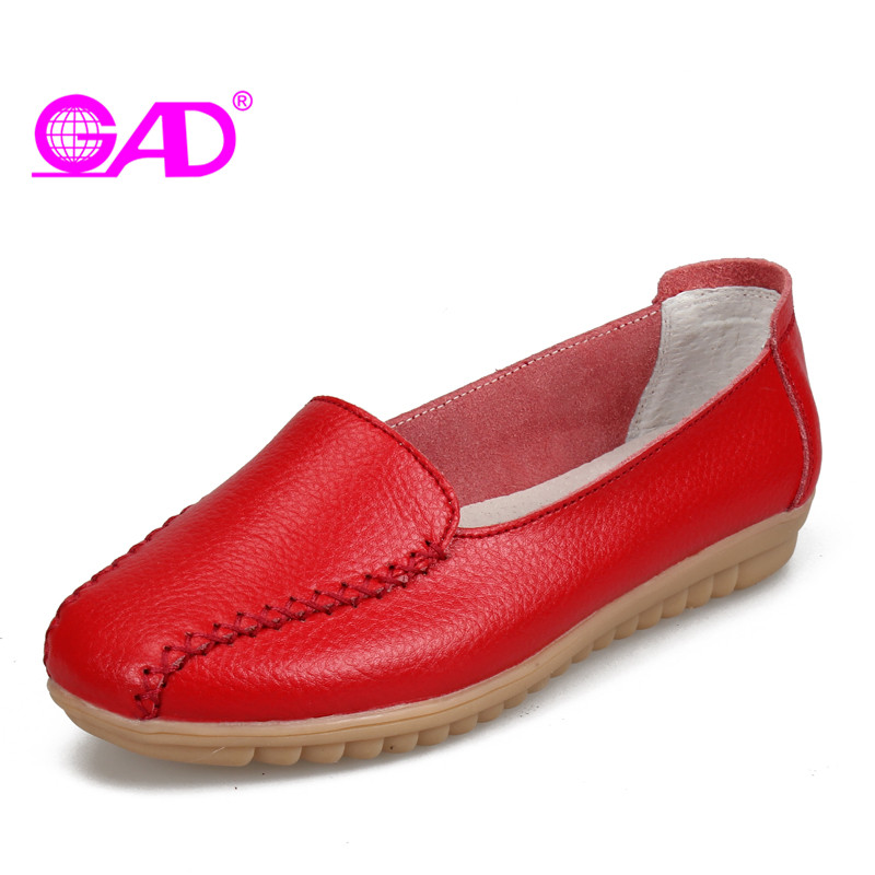 GAD Hot Sale Women Comfortable Loafers Shallow Mouth Women Driving Shoes Ladies Lazy Shoes Flat Shoes Women Large Size 35-41 siketu sweet bowknot flat shoes soft bottom casual shallow mouth purple pink suede flats slip on loafers for women size 35 40