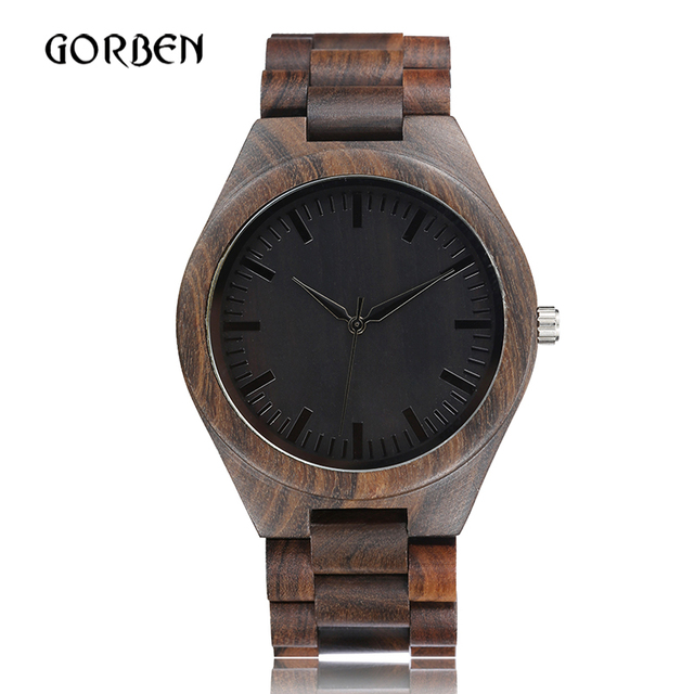 Retro Wood Watch Men Creative Simple Natural Unique Wooden Bamboo Quartz Watches Male Bangle Clock Relogio Masculino reloj 2018
