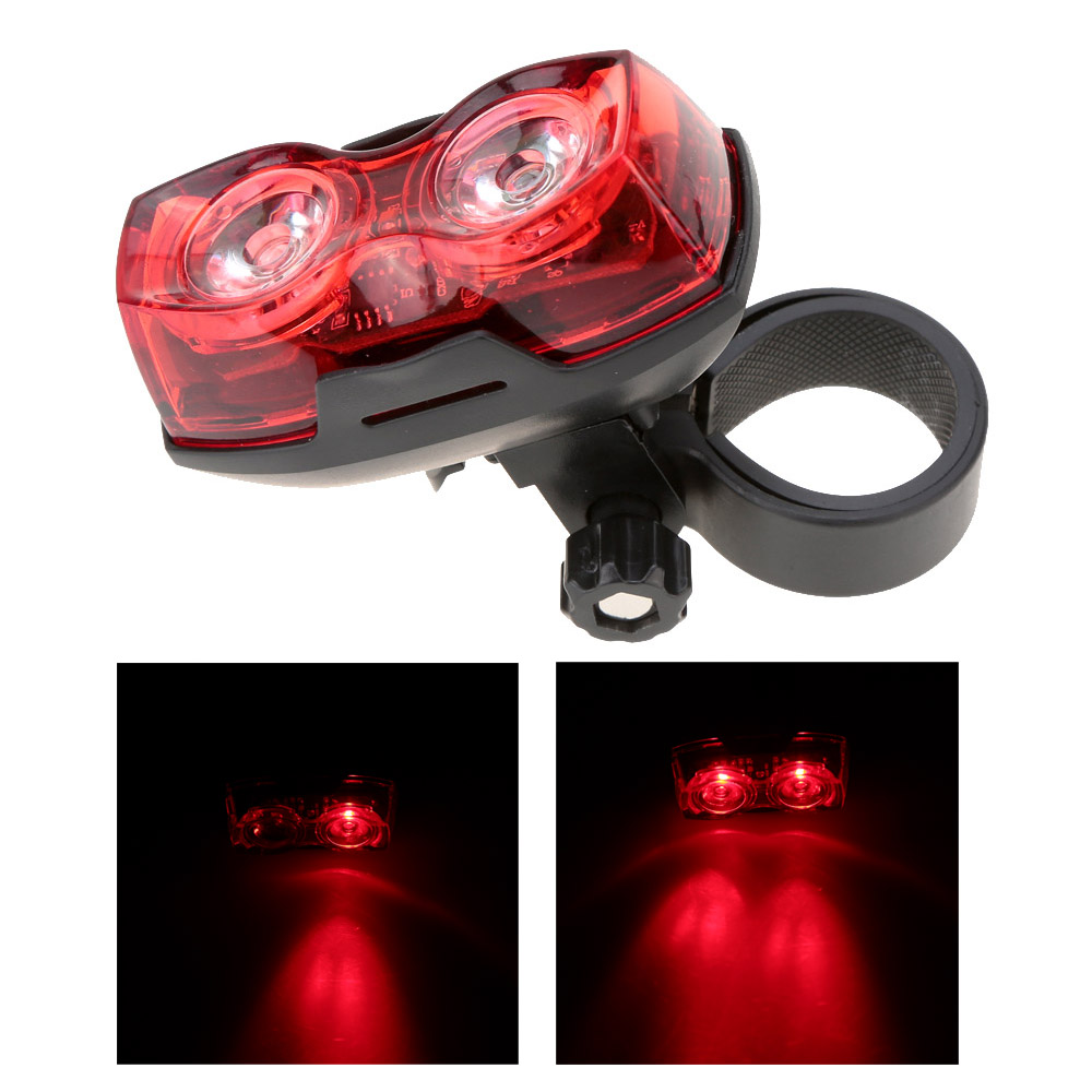New Cycling Night Super Bright Red 2 LED Rear Tail Light Bike Bicycle Safety Warning Light Bicycle Accessories