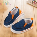 Crianças Denim sapatos de Lona Sapatos Casuais Jeans Meninos Sapatilhas Meninas Do Bebê Primeiro Walker Sapatos Crianças Sapatos Da Moda Respirável C130