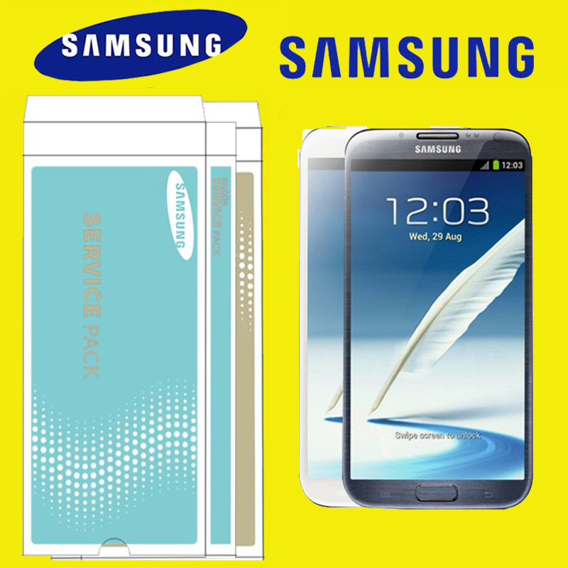 ORIGINAL 5 5 for Samsung GALAXY Note 2 N7100 LCD with Frame Display Touch Screen Digitizer