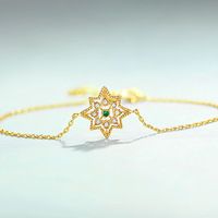 S925 sterling silver retro wind bracelet natural geometric handmade jewelry sterling silver bracelet bangle for women