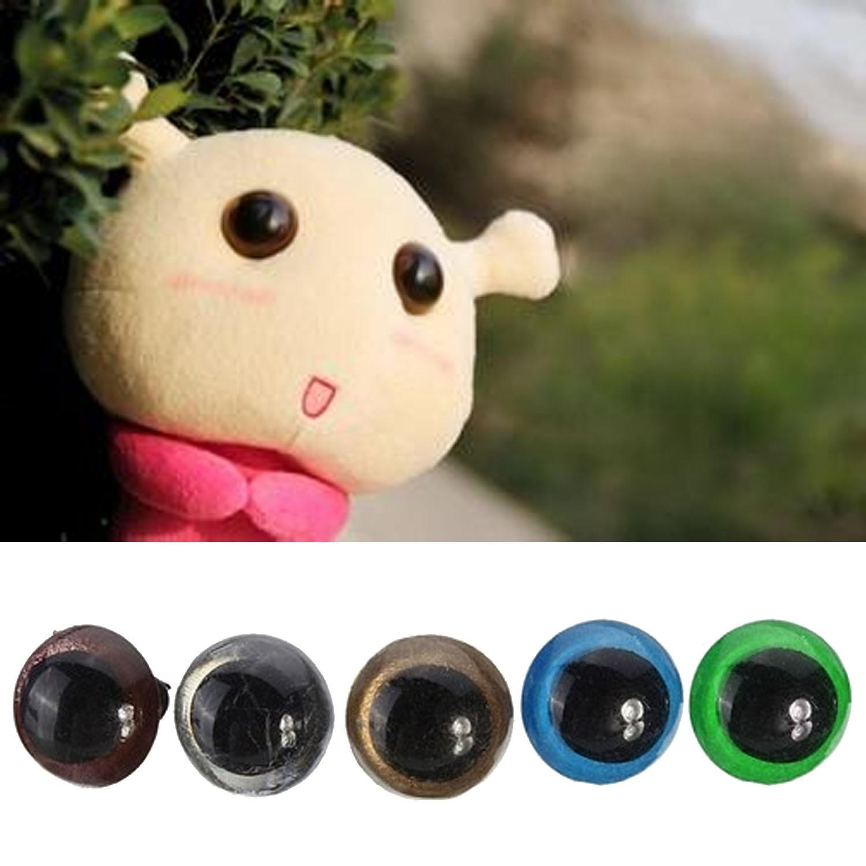 264PCS Plastic Screw Safety Fake Round Eyes Colorful Black Eye Puppet Plush Animal Doll Toy Eye with Washers Storage Box