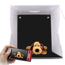 2 LED Folding Lightbox 40*40 Portable Photography Photo Studio Softbox Adjustable Brightness Light Box For DSLR Camera