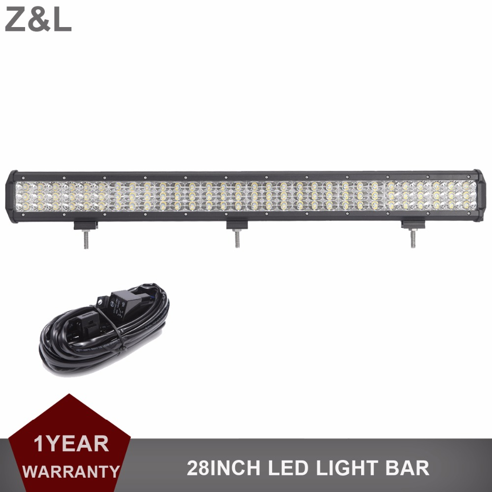 28 INCH 3-ROWS OFFROAD LED WORK LIGHT BAR COMBO CAR TRUCK MINING TRAILER WAGON PICKUP BOAT SUV 4WD RZR 4X4 12V 24V DRIVING LAMP auxbeam 44 576w cree chip led head light bar 6000k offroad work light for atv utv suv rzr pickup boat car driving led bar 3 row