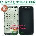Tela lcd para motorola moto g xt1033 xt1032 display lcd de toque digitador assembléia com frame frete grátis