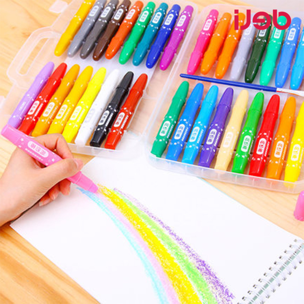 NEW non-toxic 12/24/36 color water soluble oil pastel wax crayon set school painting art supplies cute drawing Affordable grasp crayon 36 colors rotating water soluble oil painting sticks can be washed non toxic brush crayons effect of watercolor