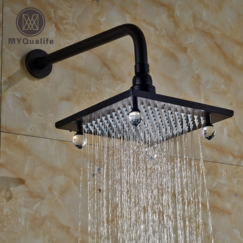 все цены на Luxury Wall Mount Bathroom Shower Head Oil Rubbed Bronze Rainfall Showerhead with Shower Arm / Cristal онлайн