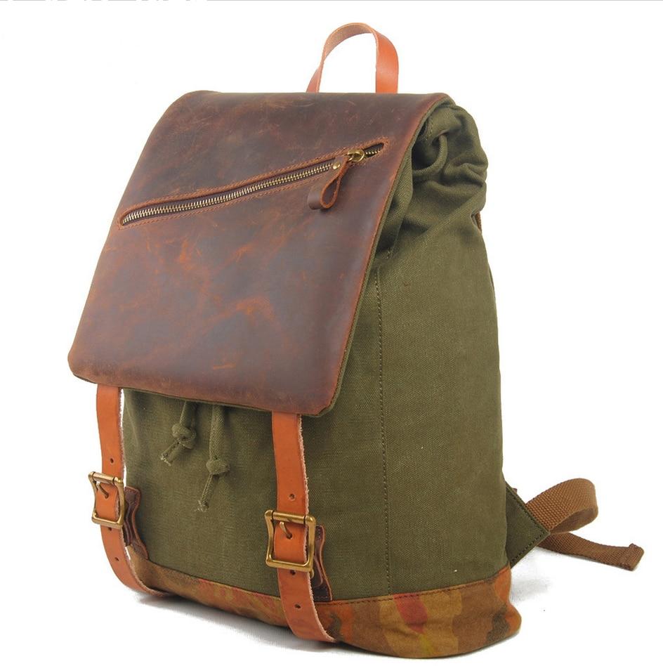 fa25484703f9 Mens Vintage Canvas Travel Lightweight Travel Backpack- Fenix ...