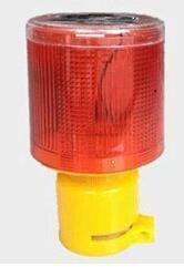 Luzes de advertência de energia solar piscando luzes de piscamento vermelhas e azuis
