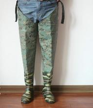 Camouflage Thickening Water Pants Half-length Waterproof Pants To Wade Fishing Lures Fishing Schistosomiasis Pants Suit Pants Ba