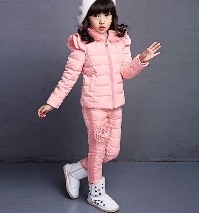 ФОТО Children's wear girls winter models set the new children's three sets of large and small girls in autumn and winter