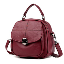 Women Leather PU Bag Backpack Famous Brands Double Strap Fashion Dual-use package Bags For Young Girls School Backpacks