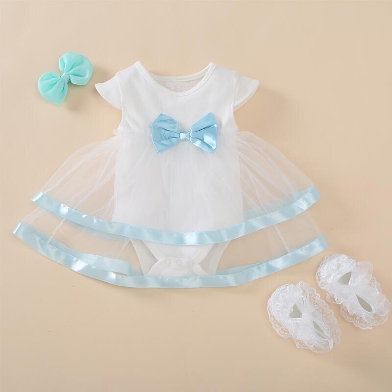 Prinzessin Stil Neugeborenes Baby Kleid Taufe Sommer Kurze Weiße ...