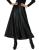 Saias longas das mulheres do hight verão maxi saia de cintura pu couro fino primavera outono vintage da moda saia plissada balanço preto