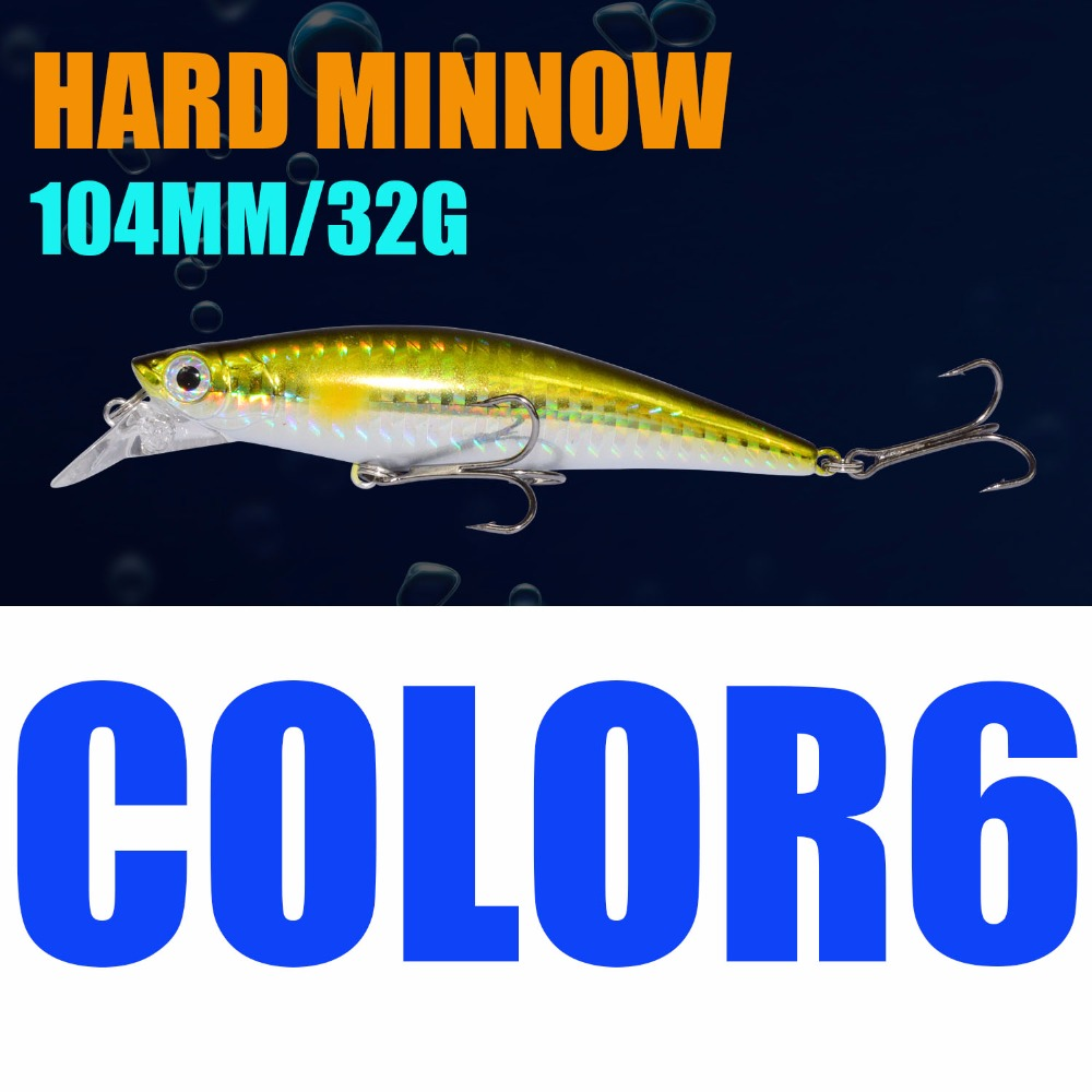 Afishlure Sinking Minnow 104mm/32g Lure Fishing Minnow Lures Hard Baits Iscas Artificial Pesca Leurre Dur Peche 30pcs set fishing lure kit hard spoon metal frog minnow jig head fishing artificial baits tackle accessories