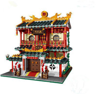 2017 New Genuine Chinese Martial Arts Chinatown Kung fu school Model Building Blocks Compatible With legoe Bricks Toys