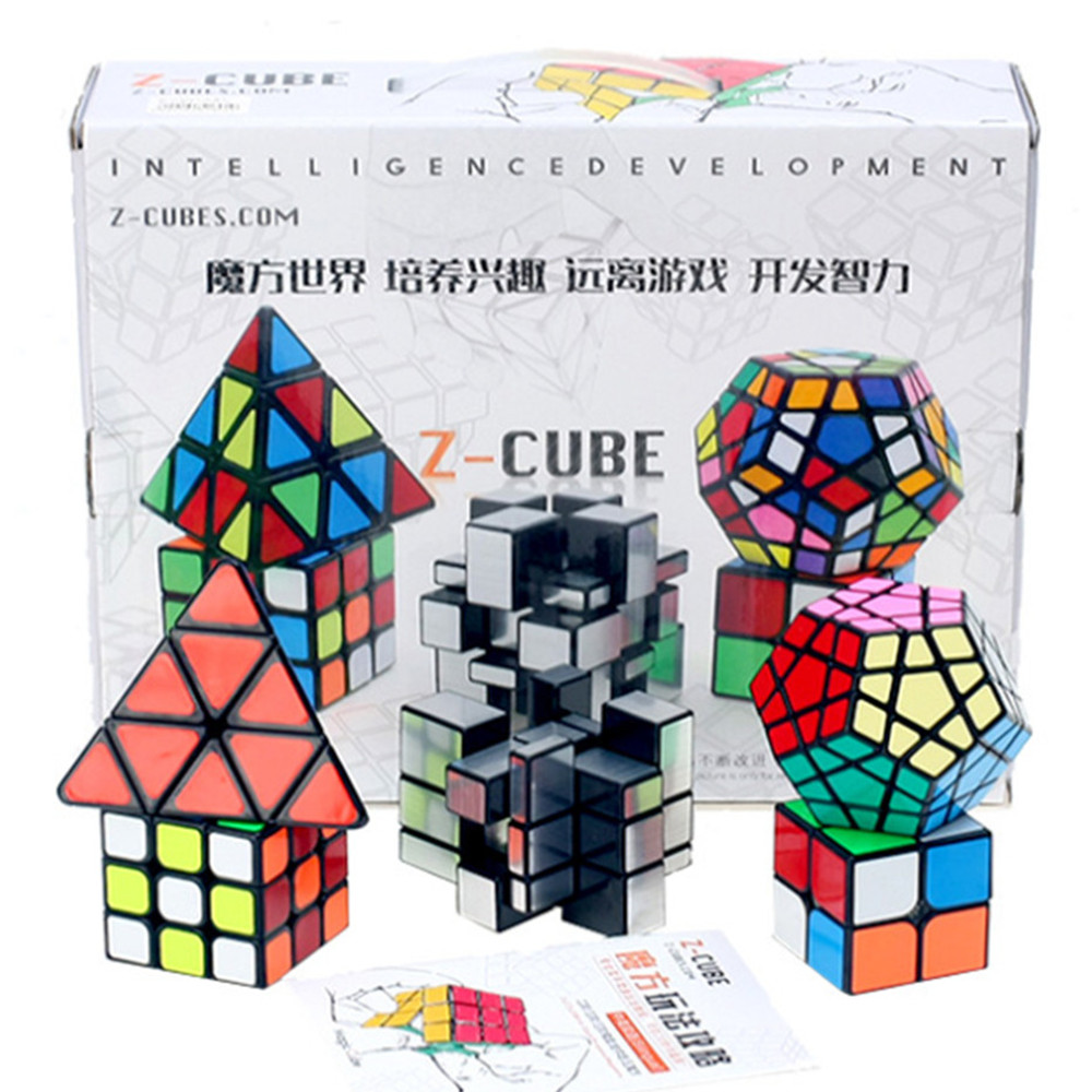 Zcube Puzzle Magic Speed Cubo Magico professional Set Mirror 3x3 2x2 Magic Cube Set with Gift Box 2018 New z cube bundle black knight 2x2 3x3 4x4 5x5 speed cube set cube pack puzzle carbon fiber cube magic fidget toy gift box