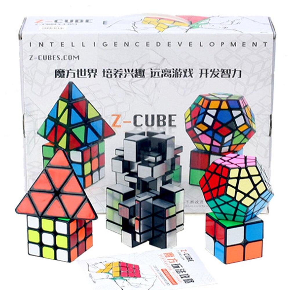 Zcube Puzzle magique vitesse Cubo Magico professionnel Set miroir 3x3 2x2 magique Cube ensemble avec boîte-cadeau 2018 nouveau