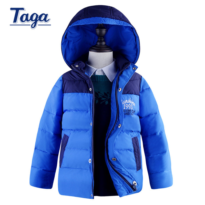 2016 Brand TAGA Children's White duck Down Jackets Big boys kids Winter Thicken Coat Outerwears High-quality parkas -15 degree winter down jacket for girls boy coat children s down jackets for boys winter jackets kids outerwears