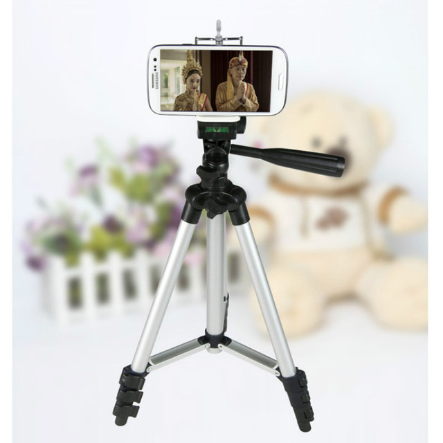 2016 NEW ARRIVAL Portable Professional Aluminum Telescopic Camera Tripod Stand Holder For Smart Phone For iPhone For Samsung