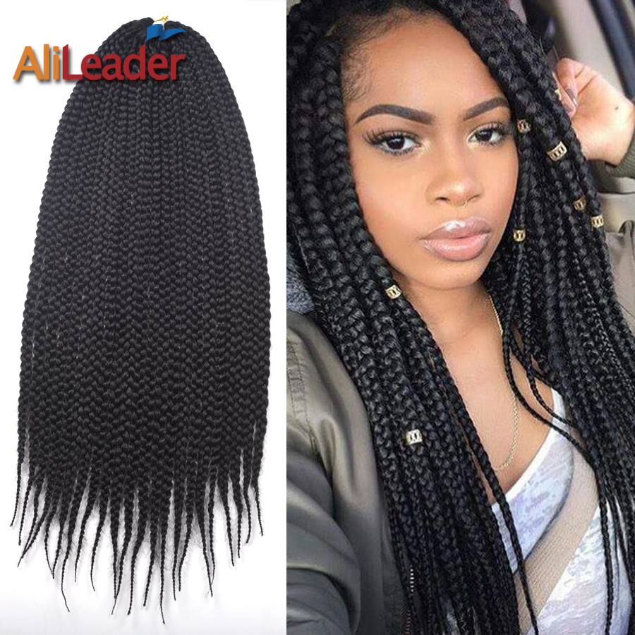 3s Box Braids Hair Medium Twist Natural Black Color 22roots 12 16 20 24inch Synthetic Crochet Braiding Extension On Aliexpress Alibaba