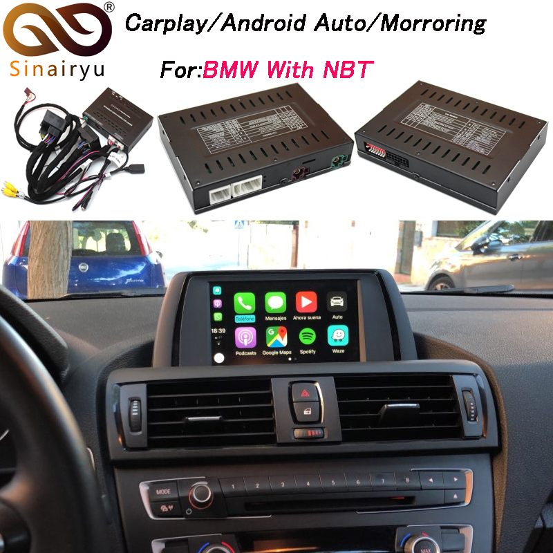 2019 Novo Carro Mirrorlink Airplay Da Apple IOS Android Auto Caixa Para BMW CarPlay 1 2 3 4 5 7 Series x3 X4 X5 X6 MINI NBT OS