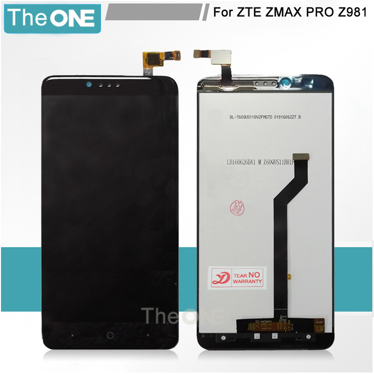 10 pcs For ZTE ZMax Pro Z981 LCD Display Screen and Touch Screen Assembly Repair Parts for zte z981 Cell Phone