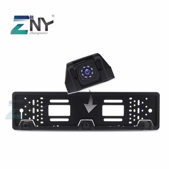 Europe Car License Rear View Camera Plate Parking Camera with Auto Parking Sensor Backup Radar Monitor Waterproof Night Vision