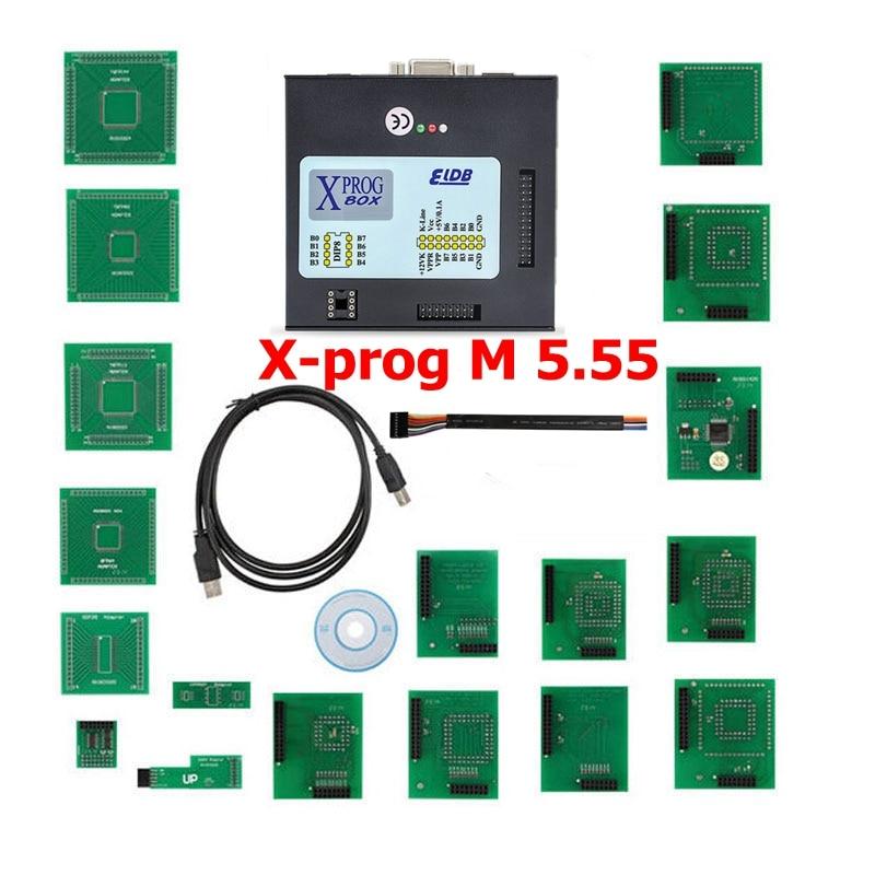 imágenes para XPROG M Programador Viruta del ECU Tunning V5.55 x-prog M 5.55 herramientas escáner OBD OBD2 OBDII herramienta de diagnóstico profesional